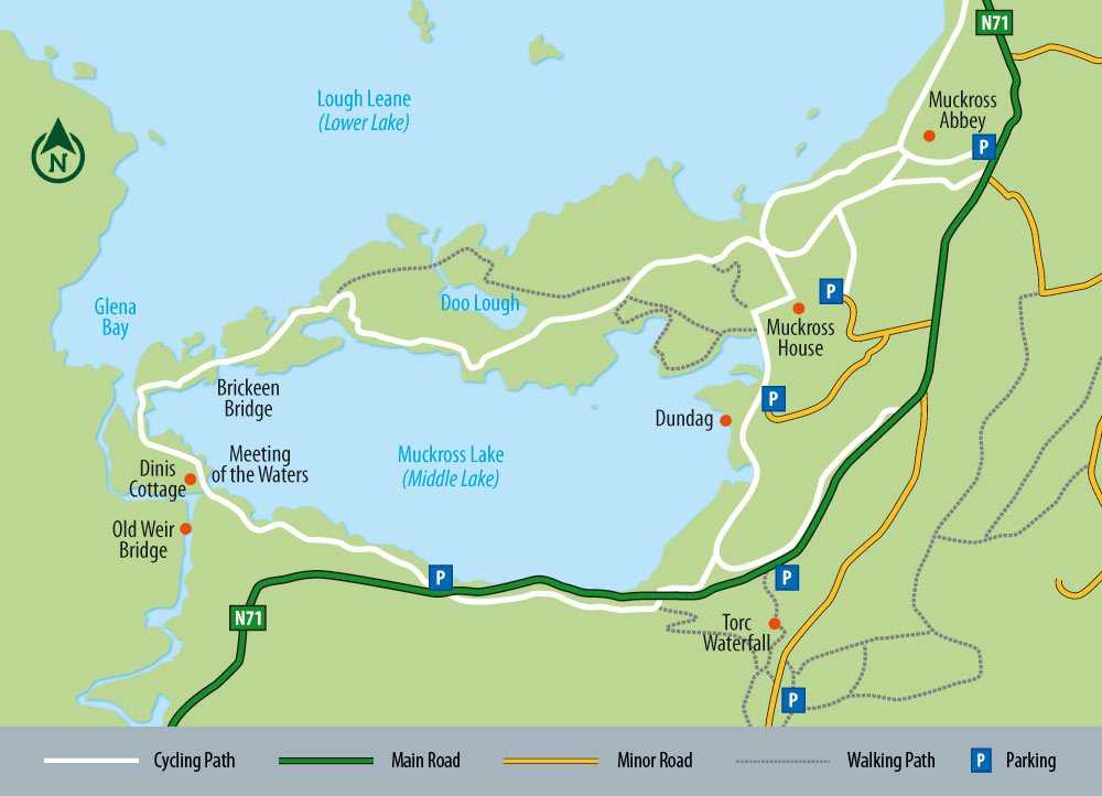 Muckross Cycle Map